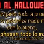 Letreros en contra de Halloween