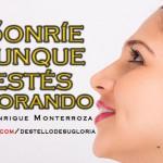 Audio Cristiano: Sonríe aunque estés llorando